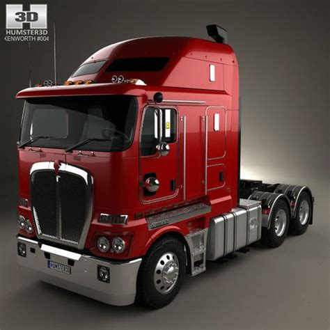 kenworth models list kenworth k200 tractor truck 2010 3d model max obj 3ds fbx