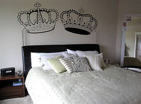 kings home decor king and queen crown wall decal by fastdesigns on etsy