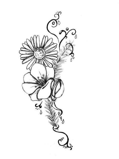 daisy tattoo design designs flower by kuroiryuu666 on