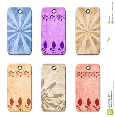 fashioned gifts gift tags fashioned stock photo image 5440980