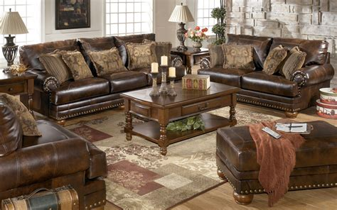 antique living room sets chaling durablend antique living room set from ashley