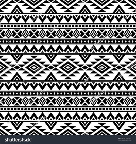 aztec template aztec stylized seamless pattern ethnic print stock vector