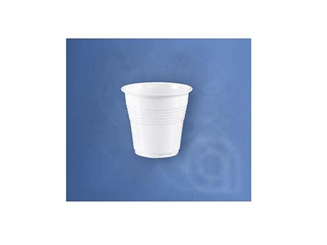 bicchiere 80cc bianco in plastica da caff 232 piatti