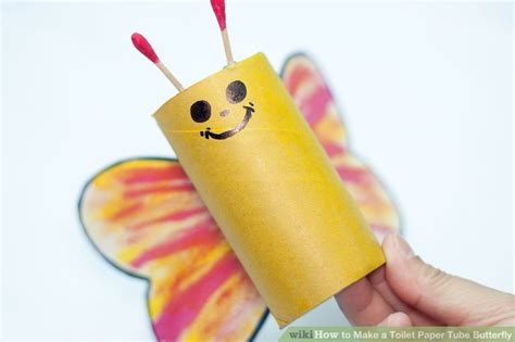 How To Make A Paper Pipe - how to make a toilet paper butterfly 8 steps with