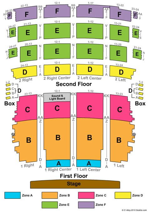 riverside theatre wi seating chart