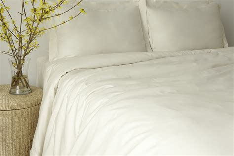organic bedding organic bedding bedding set white or natural sateen