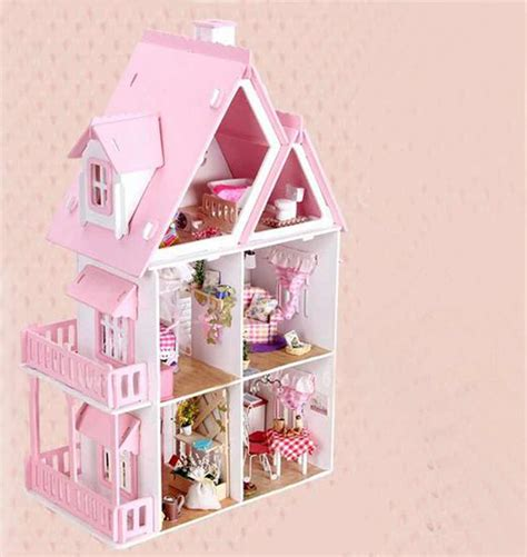 pink wooden doll house buy large size miniature doll house furniture handmade