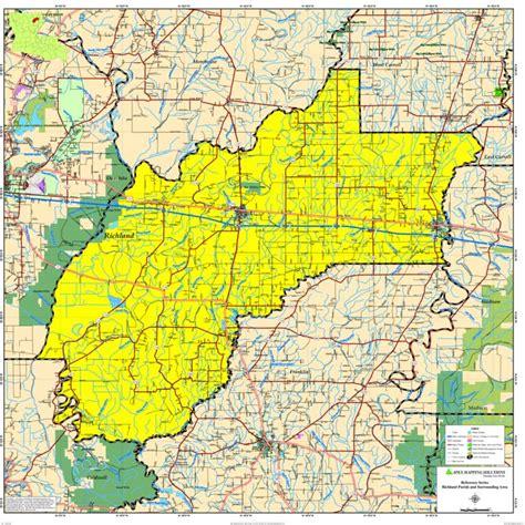 richland parish map