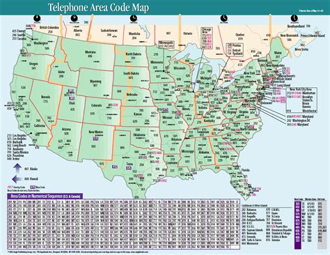 area code decoder us area codes map