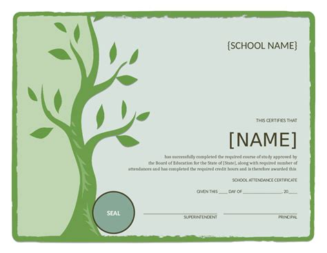 sle certificate of attendance template certificates of attendance templates 28 images