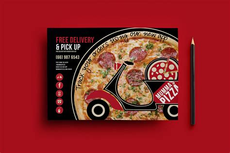 pizza flyer template free pizza menu flyer template for photoshop illustrator