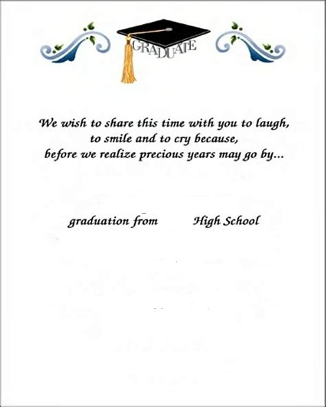 Thank You Note To On Graduation Day Graduation Thank You Card Sles For Free Card