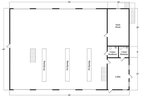 automotive shop layout floor plan pre construction services metal building designs