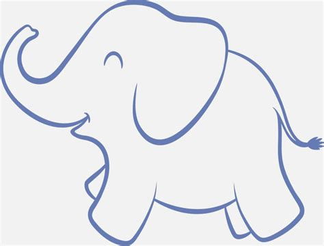 baby elephant nursery reusable stencil 8 sizes available