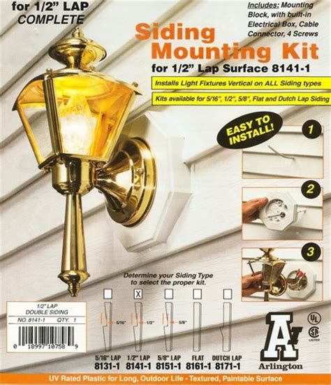 installing exterior light fixture arlington 8141 1 vertical siding l mounting kit with