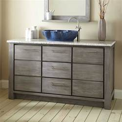60 Inch Single Sink Gray Vanity 60 Quot Venica Teak Single Vessel Sink Vanity Gray Wash