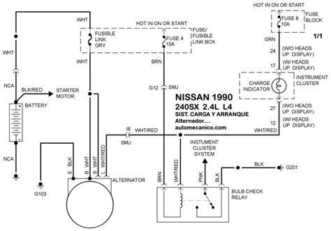 nissan diagramas esquemas sistema de carga y arranque