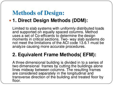 design method is design of two way slab