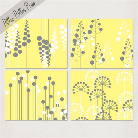 printable art gray and yellow item details