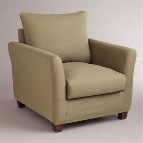 luxe slipcover sage luxe chair slipcover world market