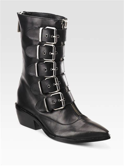 dolce vita ankle boots dolce vita rosalie buckled leather ankle boots in black lyst