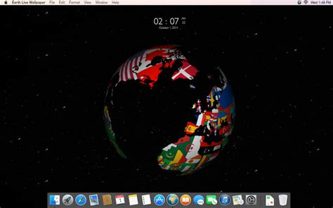 earth live wallpaper for mac 地球や他惑星の3d球体をデスクトップに表示 earth live wallpaper macの手書き説明書