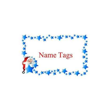 Christmas Design Name Tags | christmas name tags how to design and print your own
