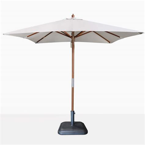 Canvas Patio Umbrellas Dixon Sunbrella Square Patio Umbrella Teak Warehouse