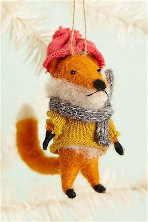 cottage fox ornament anthropologie fox pinterest a