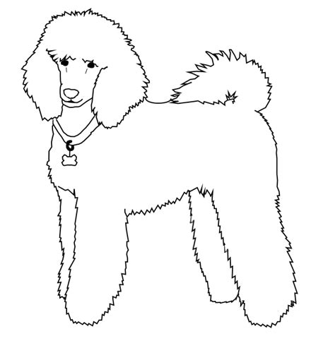 poodle template free poodle line by dailyadoptables on deviantart