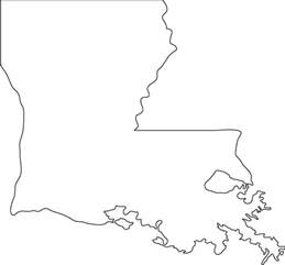 louisiana map blank louisiana outline map