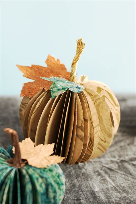 Pumpkin Paper Crafts - paper pumpkin centerpiece julep