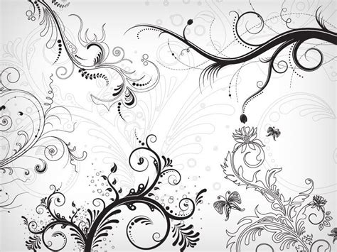 swirl pattern photoshop 50 free swirl floral brushes for photoshop monsterpost