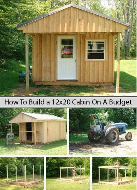 How To Build A 12x20 Storage Shed by How To Build A 12x20 Cabin On A Budget