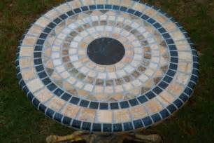 Patio Coffee Table Cover Mosaic Tile Table Car Interior Design