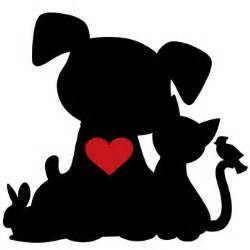 clip art pet silhouettes heart dog clip art pictures