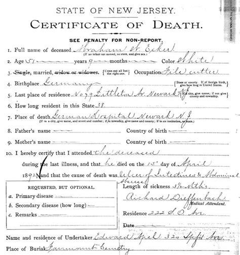 Newark Nj Marriage Records Untitled Document Www Hasselbacher Org
