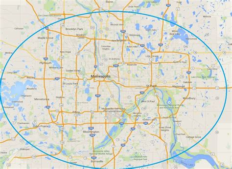 map of plymouth and surrounding areas service area minneapolis st paul area