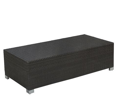 bank polyrattan mbm lounge bank tisch bellini 56x120 mocca polyrattan