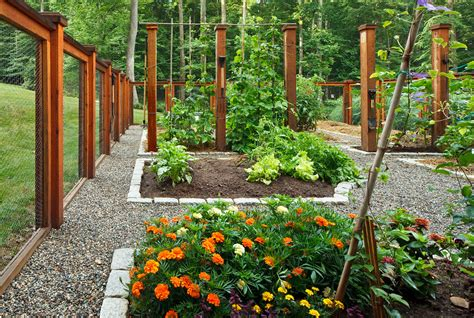 Garden With Wire Vegetable Garden Fence Ideas Landscape Eclectic With
