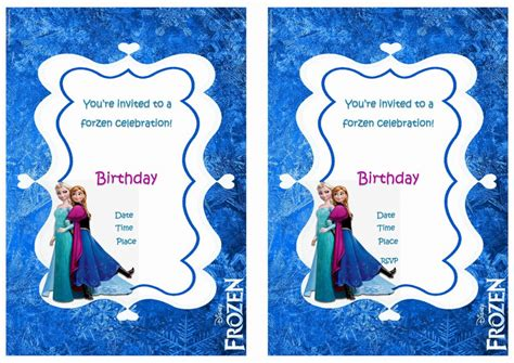 printable free frozen invitations frozen birthday invitations birthday printable