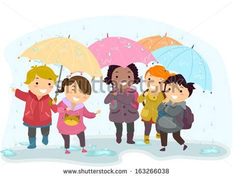 imagenes de niños jugando bajo el sol illustration of kids holding umbrellas while walking in