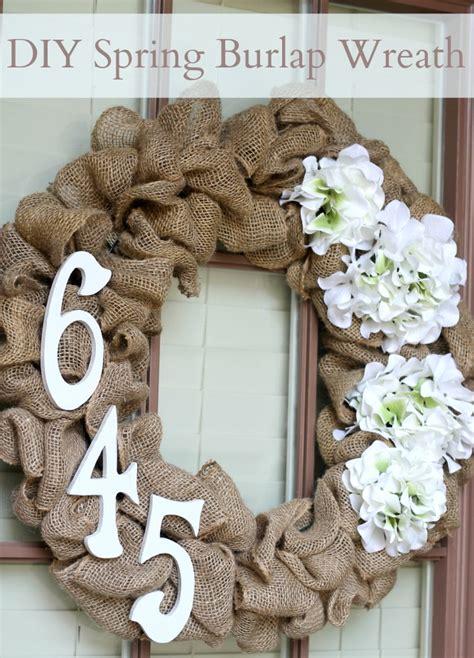 diy spring burlap wreath domestic superhero