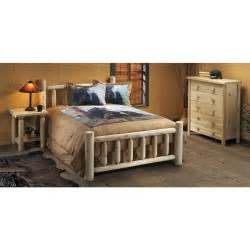 rustic cedar furniture company 174 king cedar log bed