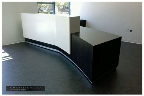 angled reception desk reception