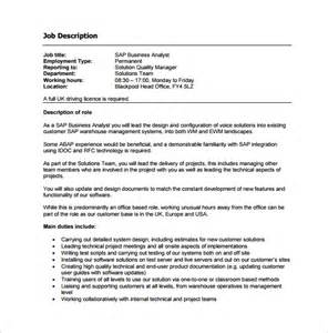 11 business analyst job description templates free