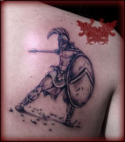 achilles tattoo achilles warrior on right back shoulder