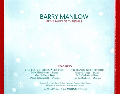 in the swing of christmas car 225 tula interior trasera de barry manilow in the swing