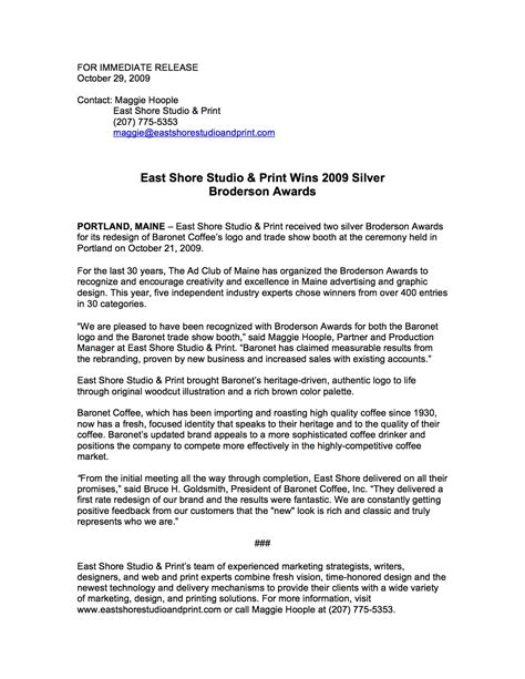 format email press release how to format a press release a few good words