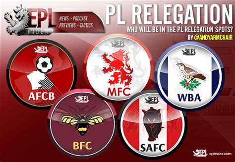 epl relegation who will be in the premier league relegation places epl